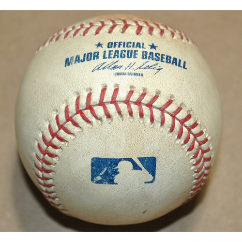 Photo of Game-Used Baseball - 2008 ALCS Game 1 - Boston Red Sox vs. Tampa Bay Rays