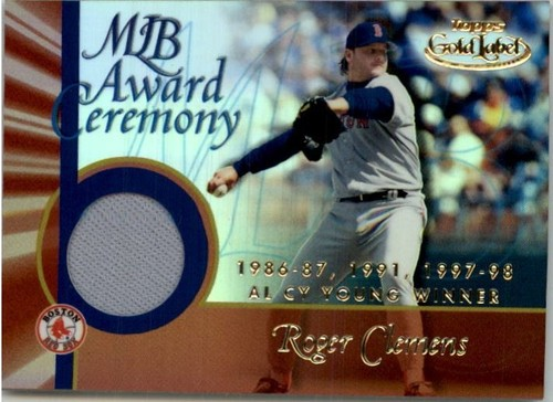 Photo of 2001 Topps Gold Label MLB Award Ceremony Relics #RC1 Roger Clemens CY Jsy
