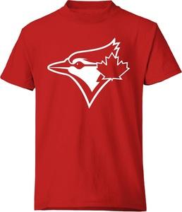 Toronto Blue Jays White Secondary Logo Red T-Shirt by Bulletin