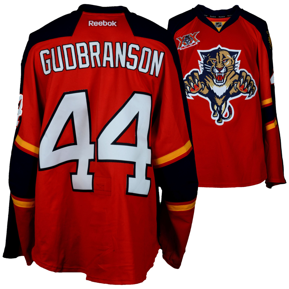 Erik Gudbranson Florida Panthers Game-Used #44 Red Jersey from the 2013-14 NHL Season - Size 58