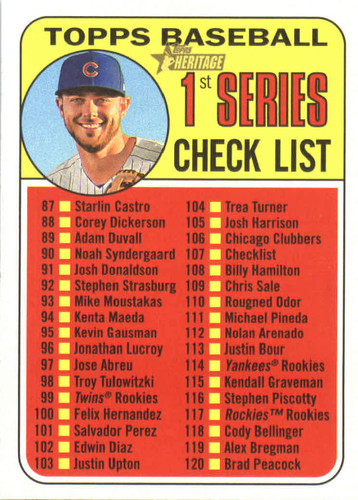 Photo of 2018 Topps Heritage #107 Kris Bryant CL