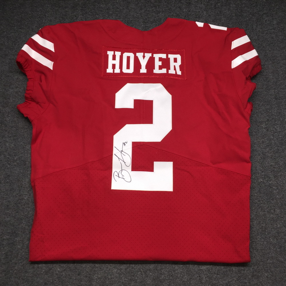 new concept 73d42 d33c4 NFL Auction | 49ERS - BRIAN HOYER AUTHENTIC 49ERS JERSEY ...