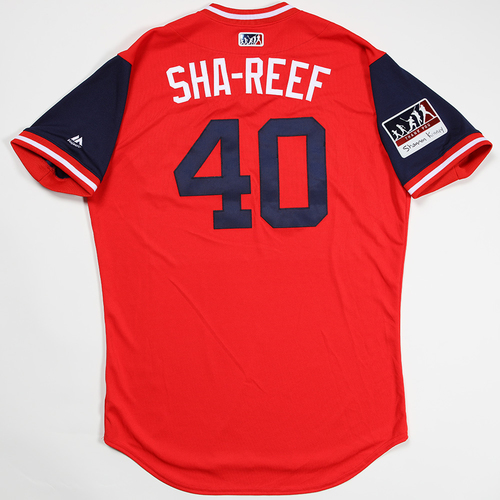 "Photo of Chasen ""Sha-Reef"" Shreve St. Louis Cardinals Game-Used 2018 Players' Weekend Jersey"