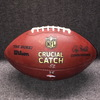 Crucial Catch  - Broncos Emmanuel Sanders signed and game used football w/ Crucial Catch logo (October 15, 2017)