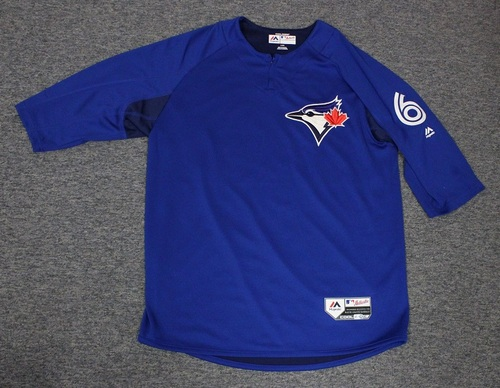 Photo of Authenticated Team Issued Batting Practice Jersey - #6 Marcus Stroman. Size L.
