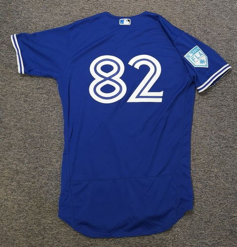 Photo of Authenticated Team Issued 2019 Spring Training Jersey - #82 Chavez Young. Size 44