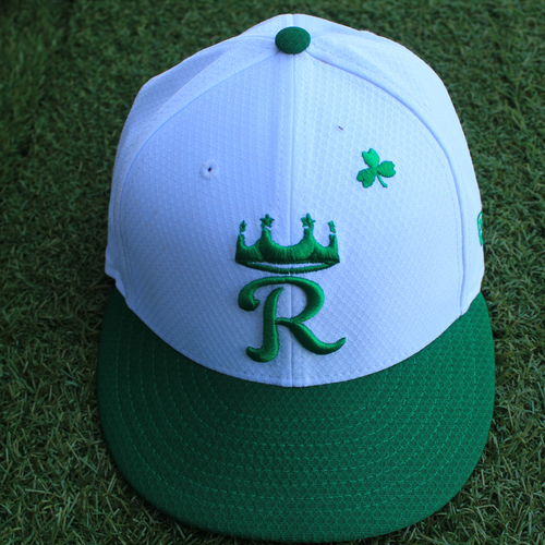 Photo of Game-Used Saint Patrick's Day Cap: Sam McWilliams (Size 7 1/2 - SEA @ KC - 3/17/19)