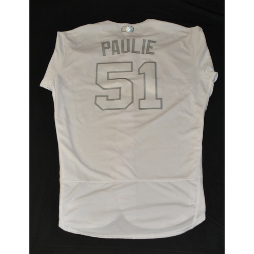 "Photo of Paul ""PAULIE"" Sewald New York Mets Game-Used 2019 Players' Weekend Jersey"