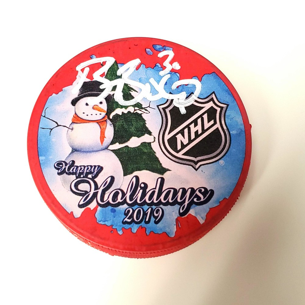 Ben Bishop Dallas Stars Autographed Inglasco 2019 Happy Holiday Hockey Puck - NHL Auctions Exclusive