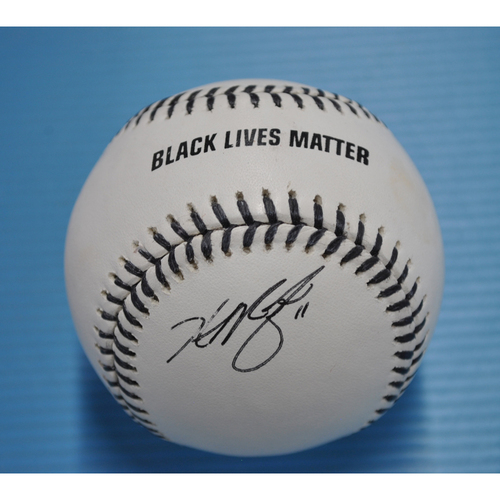 Photo of MLB Opening Day Auction Supporting The Players Alliance - Autographed Black Lives Matter Baseball - Hunter Renfroe