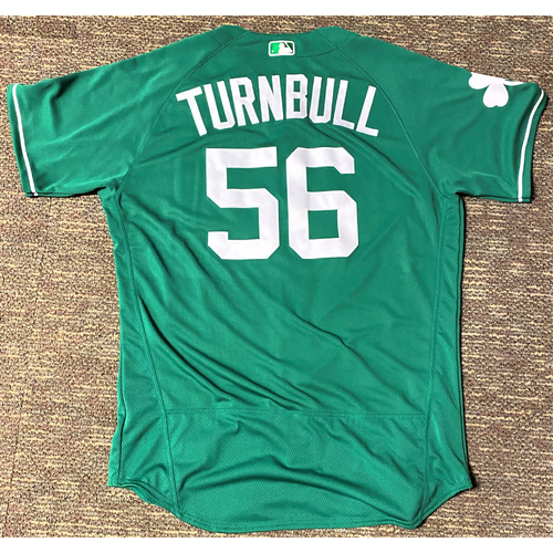 Photo of Spencer Turnbull #56 Detroit Tigers Game-Used 2019 St. Patrick's Day Jersey (MLB AUTHENTICATED)