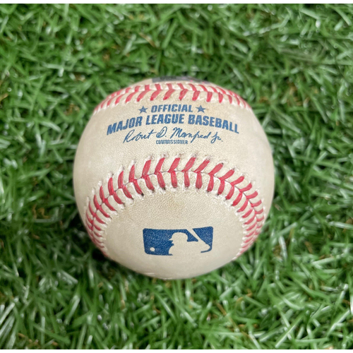 Spring Training Game Used Baseball: Shane McClanahan strikes out Yairo Munoz - Top 3 - March 9, 2021 v BOS