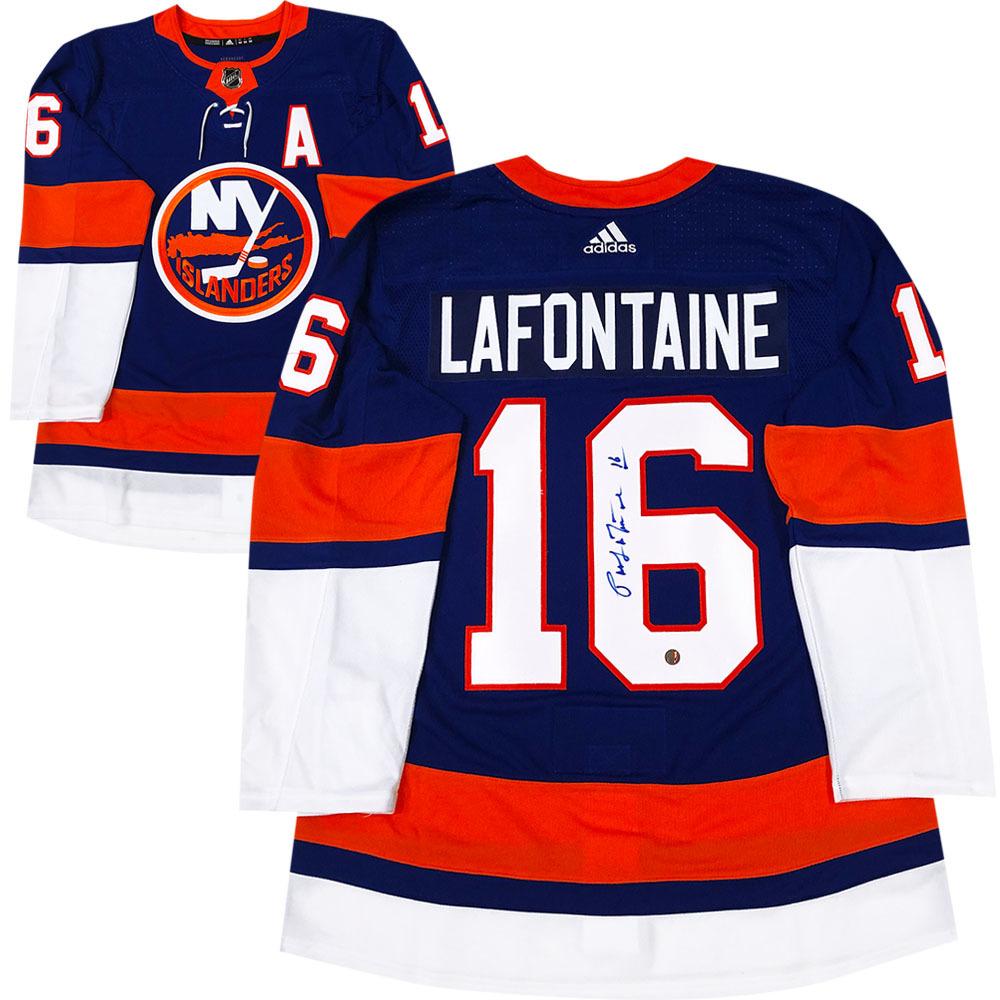 Pat Lofontaine Autographed New York Islanders adidas Pro Jersey