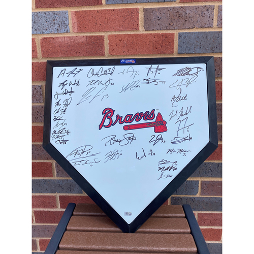 Photo of 2020 Atlanta Braves Team Signed and MLB Authenticated Replica Home Plate