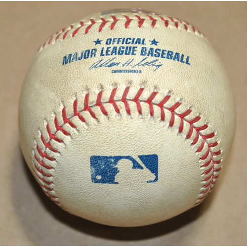 Photo of Game-Used Baseball - 2008 ALDS Game 7 - Boston Red Sox vs. Tampa Bay Rays