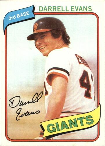 Photo of 1980 Topps #145 Darrell Evans