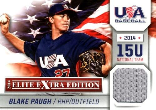 Photo of 2014 Elite Extra Edition USA Baseball 15U Game Jerseys #1 Blake Paugh