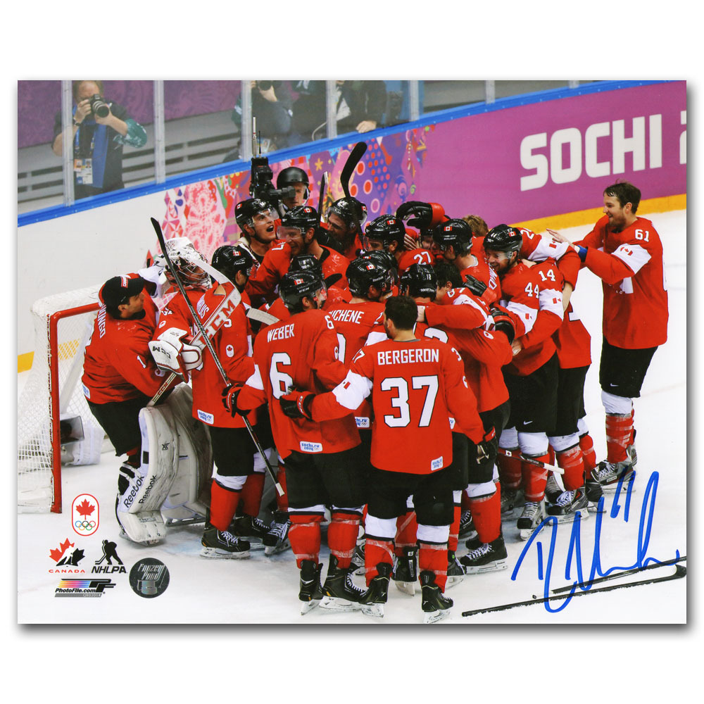 Rick Nash Autographed 2014 Olympic Champions 8X10 Photo (New York Rangers)