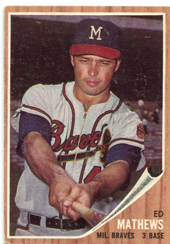 Photo of 1962 Topps #30 Eddie Mathews -- Hall of Famer