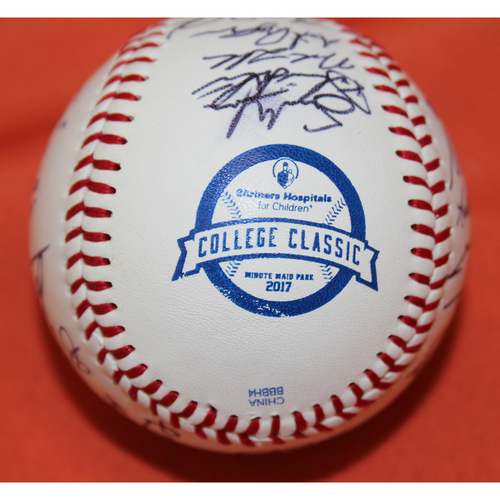 Photo of Autographed TCU Team 2017 SHC College Classic Baseball - Not MLB Authenticated