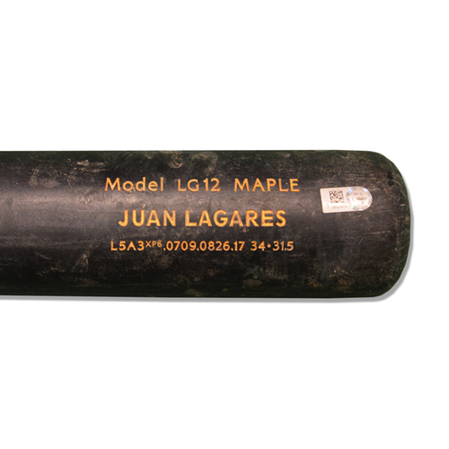 Photo of Juan Lagares #12 - Game Used Cracked Black Chandler Bat - Mets vs. Reds - 9/9/17