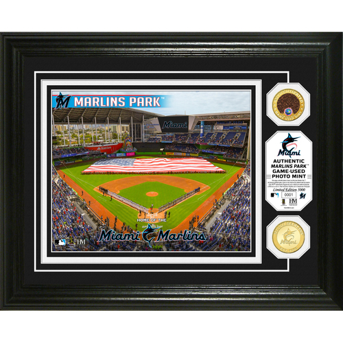 Photo of Serial #1! Miami Marlins Dirt Coin Photo Mint
