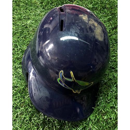 Photo of 2018 Game Used Devil Rays Helmet (7 1/4): Mallex Smith 3-7, 2R, 2RBI, 2SB - September 29 & 30, 2018 v TOR