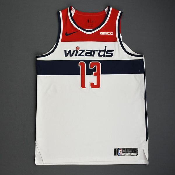 Image of Thomas Bryant - Washington Wizards - Kia NBA Tip-Off 2019 - Game-Worn Association Edition Jersey - Double-Double