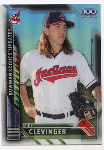Photo of 2016 Bowman Chrome Bowman Scouts Updates #BSUMC Mike Clevinger