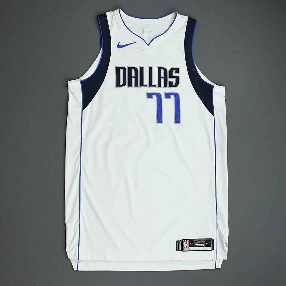 Luka Doncic - Dallas Mavericks - 2019 NBA Mexico Games - Game-Worn Association Edition Jersey - Triple-Double - Scored 41 Points