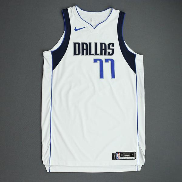 Image of Luka Doncic - Dallas Mavericks - 2019 NBA Mexico Games - Game-Worn Association Edition Jersey - Triple-Double - Scored 41 Points