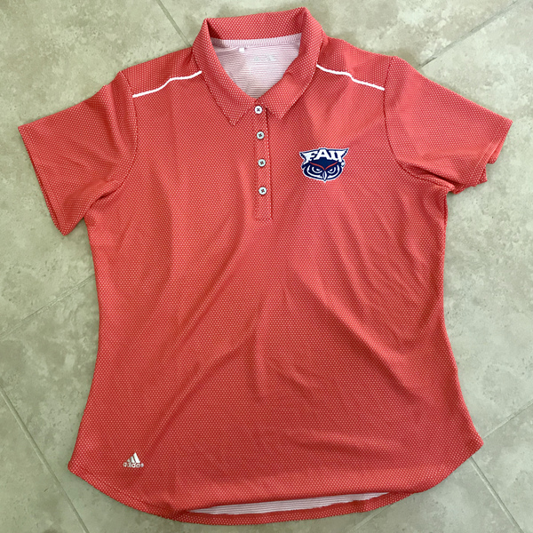 Photo of Ladies FAU Red and White Polka Dot Polo (Women's L)