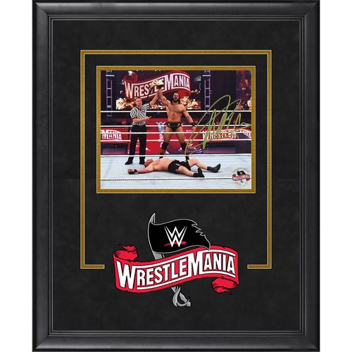 Photo of Drew McIntyre SIGNED WrestleMania 36 Champion's Edition Frame  (Random Number)