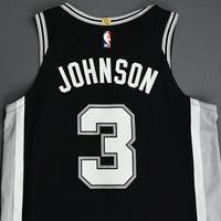 Keldon Johnson - San Antonio Spurs - Game-Worn Icon Edition Rookie Debut Jersey - 2019-20 Season