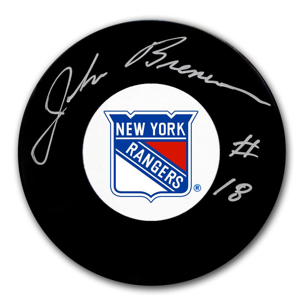 John Brenneman New York Rangers Autographed Puck