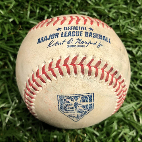 Photo of Game Used Baseball: Rafael Devers RBI single and Eduardo Nunez single off Jose Alvarado - March 30, 2018 v BOS