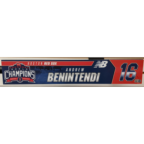 Andrew Benintendi #16 Team Issued Locker Tag