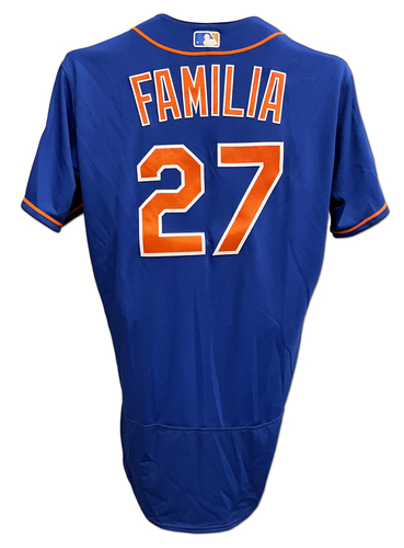 Photo of Jeurys Familia #27 - Team Issued Blue Alt. Home Jersey with Staub Patch - 2018 Season
