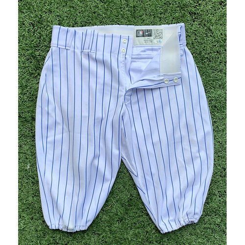 Photo of Kevin Pillar #11 - Game Used White Pinstripe Pants - Mets vs. Cardinals - 9/14/21