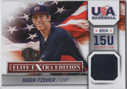 Photo of 2014 Elite Extra Edition USA Baseball 15U Game Jerseys #3 Hugh Fisher