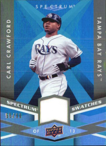 Photo of 2009 Upper Deck Spectrum Spectrum Swatches Light Blue #SSCC Carl Crawford