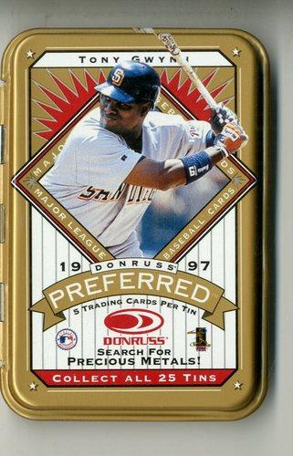 Photo of 1997 Donruss Preferred Tin Packs Gold #7 Tony Gwynn
