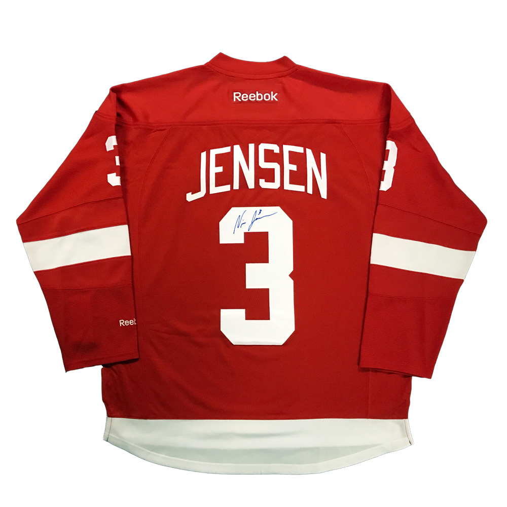 NICK JENSEN Signed Detroit Red Wings Red Reebok Jersey