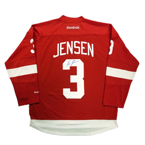 f60c609b5 NICK JENSEN Signed Detroit Red Wings Red Reebok JerseyNICK JENSEN Signed  Detroit Red Wings Red Reebok Jersey