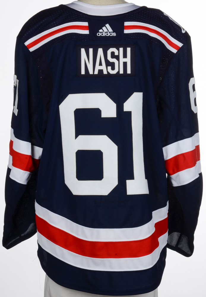 check out 0f544 1db8a Rick Nash New York Rangers Game-Worn 2018 NHL Winter Classic ...