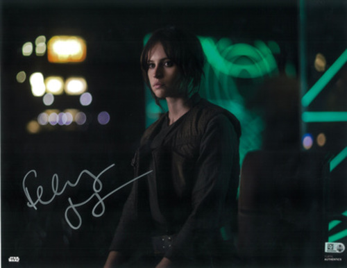 Felicity Jones as Jyn Erso 11x14 Autographed in Silver Ink Photo
