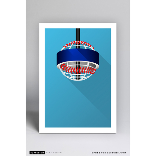 Photo of SunTrust Park - Minimalist Ballpark Art Print by S. Preston  - Atlanta Braves