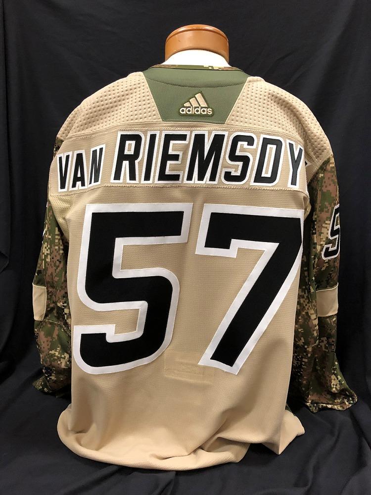 Trevor van Riemsdyk #57 Autographed Military Appreciation Jersey