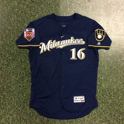 Photo of Domingo Santana 2018 Team-Issued Spring Training Jersey