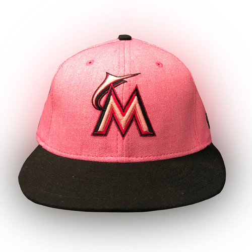 Photo of Game-Used Mother's Day Cap: Justin Bour - Size 7 5/8